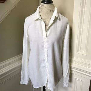 Anthropologie Cloth & Stone Shirt Blouse Large Top